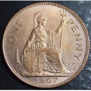 1 пенни  1967 год , Великобритания