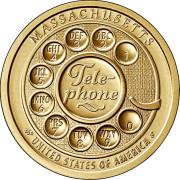 1 доллар 2020 год . Американские инновации - Телефон ( Массачусетс )