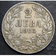 2 лева 1925 год . Болгария