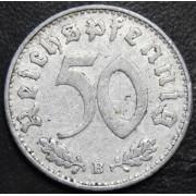 50 рейхспфеннигов 1939 год (В) свастика . Германия