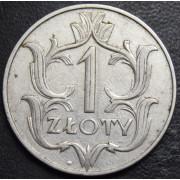 1 злотый 1929 год  Польша