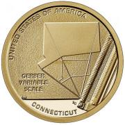 1 доллар 2020 год . Американские инновации - Шкала Гербера ( Коннектикут)