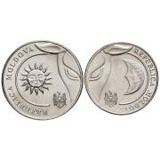 1 и 2 лея  2018 год.Молдавия