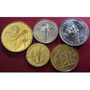 Набор монет Центральная Африка 2002 - 2004 г.г
