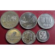 Набор монет  Эквадор 1988-91 г.г