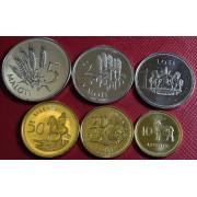 Набор монет  Лесото 1998 - 2018 г.г