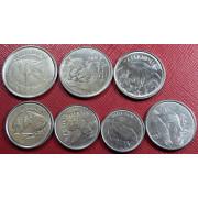 """Набор монет  Бразилия """"животные"""""""