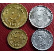 Набор монет Пакистан 2016-2018 г.г