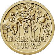 1 доллар 2019 год . Американские инновации . Попечительские сады