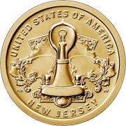 1 доллар 2019 год . Американские инновации . Лампа накаливания Томаса Эдисона