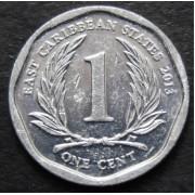 1 цент 2013 год . Восточные Карибы