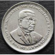 20 центов  2012 год . Маврикий
