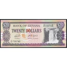 20 долларов 1996 - 2018 год . Гайана