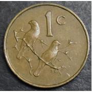 1 цент 1967  год . ЮАР