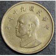 1 доллар 2008 год . Тайвань