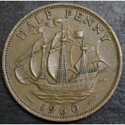 1/2 нового  пенни   1960 год . Великобритания