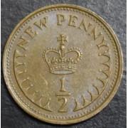 1/2 нового  пенни   1975 год . Великобритания