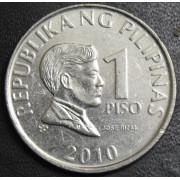 1 песо 2010 год . Филиппины