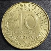 10 сантимов 1974 год . Франция
