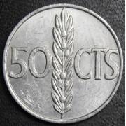 50 сантимов 1966 год . Испания