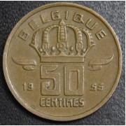 50 сантимов 1955 год . Бельгия