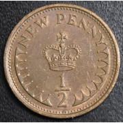 1/2 нового  пенни   1980 год . Великобритания