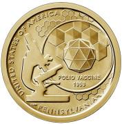 1 доллар 2019 год. Американские инновации. Вакцина против полиомиелита