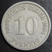 10 пфеннигов 1901 год (A). Германия