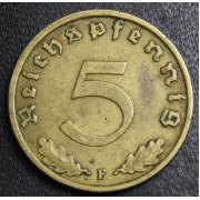5 рейхспфеннигов 1939 год (F) . Германия