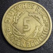 5 пфеннигов 1924  год Германия