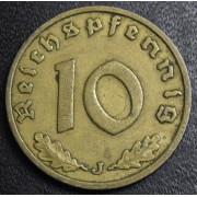 10 рейхспфеннигов 1938 год (J). Германия