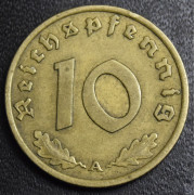 10 рейхспфеннигов 1936 год (A). Германия (нечастая)