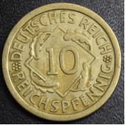 10 рейхспфеннигов 1929 год (F). Германия
