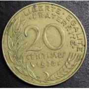 20  сантимов 1978 год .  Франция