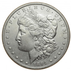 доллар 1884 год  (Морган)