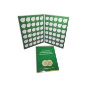Альбом  для десятирублёвых биметаллических монет  (продолжение на 60 ячеек начиная с 2019 года)