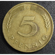 5 пфеннигов 1976 год Германия