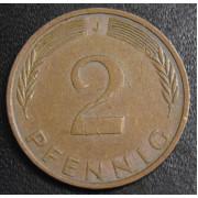 2 пфеннига 1973 год Германия