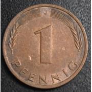 1 пфенниг 1986 год Германия