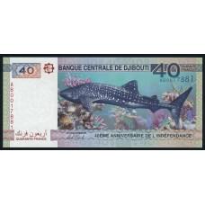 40 франков 2017 год . Джибути