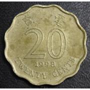 20 центов  1998 год Гонконг