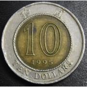 10 долларов 1995 год  Гонконг