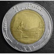 500 лир 1987 год  Италия