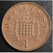 1 пенни  1999 год Великобритания
