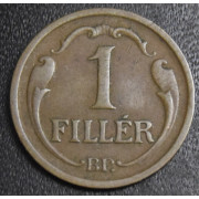 1 филлер 1938 год  Венгрия