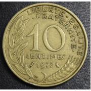 10 сантимов 1972 год  Франция