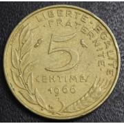 5 сантимов 1966 год  Франция
