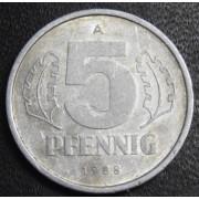 5 пфеннигов 1988 год  ГДР