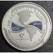 1/4 бальбоа   2016 год  Панама. 100 лет строительству Панамского канала-Век объединяя мир