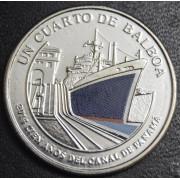 1/4 бальбоа   2016 год  Панама. 100 лет строительству Панамского канала